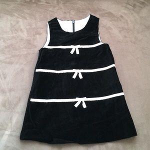 Baby Girls Janie and Jack velvet sleeveless dress.